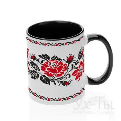 Чашка с украинским орнаментом 'Розы'