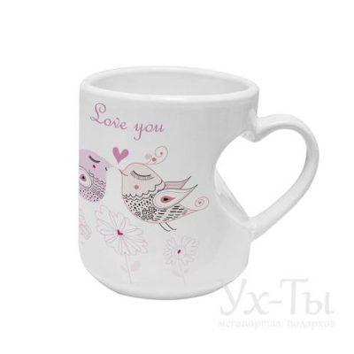Авторская чашка 'Влюбленные птички'