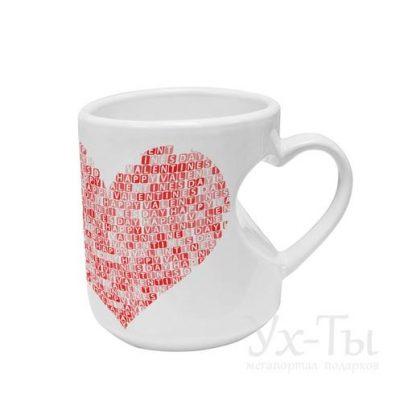 Авторская чашка 'Красное сердце'