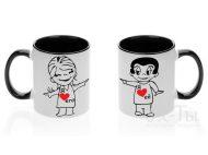Парные чашки 'Я люблю ее/его'