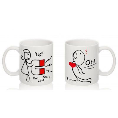 Парные чашки 'Любовный магнит'