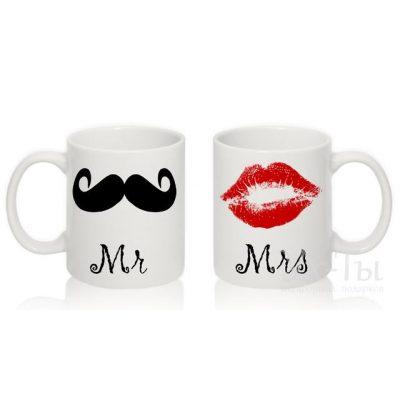 Парные чашки 'Mr. & Mrs.'