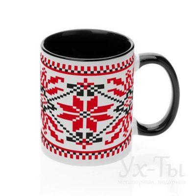 Чашка с украинским орнаментом 'Цветочный узор'