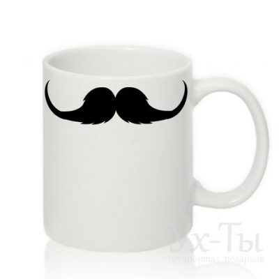 Чашка с усами №3
