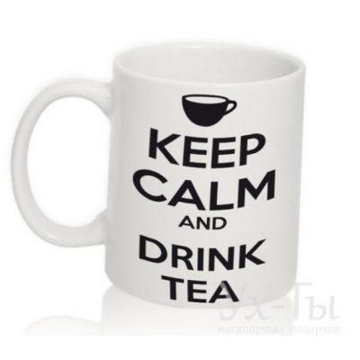 Чашка с надписью 'Drink tea'