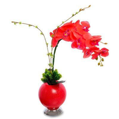 Светящиеся цветы ОРХИДЕЯ Красная средняя