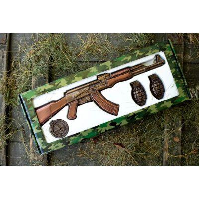 Шоколад прикольный Фигурный АВТОМАТ АК-47