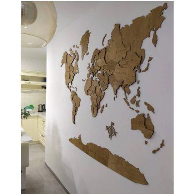 Карта Світу на стіну ГЕНРІ ГУДЗОН