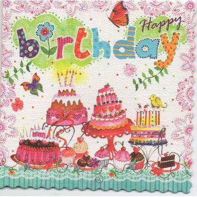 Мини-Открытка HAPPY BIRTHDAY