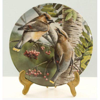 Оловянная коллекционная тарелка ГЛУХАРЬ