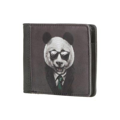 Мужской кошелек на кнопке ПАНДА