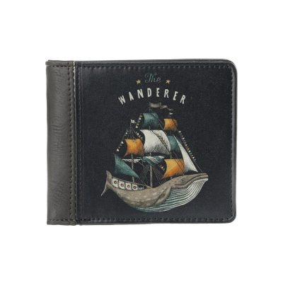 Мужской кошелек на кнопке The WANDERER