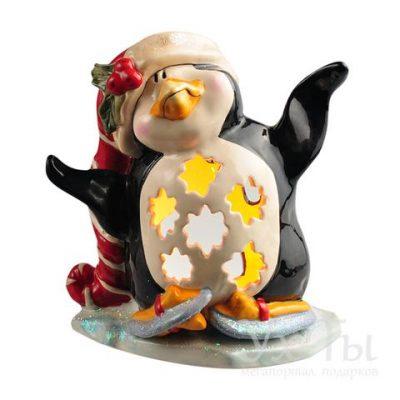 Подсвечник 'Пингвин в танце на льду'