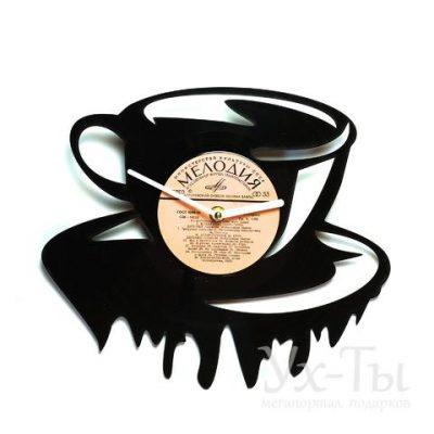 Виниловые часы 'Чашка чая/кофе'