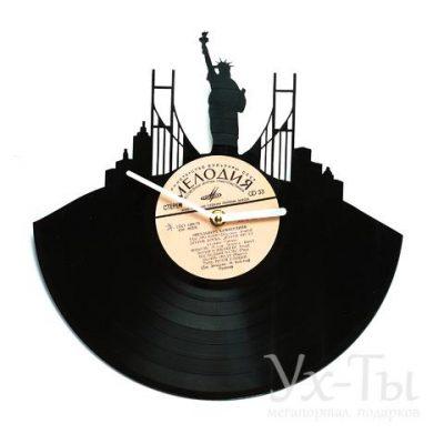 Виниловые часы 'Нью-Йорк'