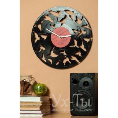 Виниловые часы 'Птицы'