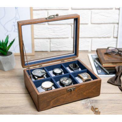 Деревянная шкатулка для часов и аксессуаров DABO Hetch DS11