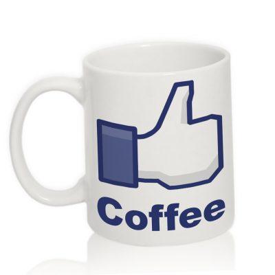 Чашка с надписью 'Like coffee'