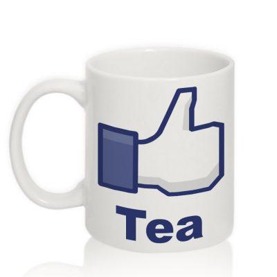 Чашка с надписью 'Like tea'