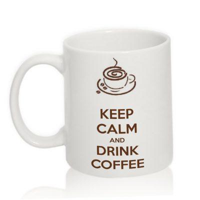 Чашка с надписью 'Drink coffee'