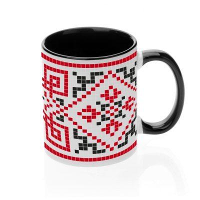 Чашка с украинским орнаментом 'Вышивка'