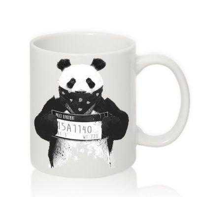 Чашка с надписью 'Панда Police'