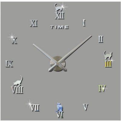 Настенные Декоративные часы CAT SILVER