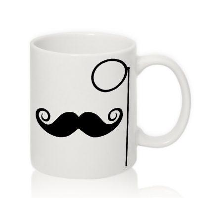 Чашка для Мужчин УСЫ с МОНОКЛЕМ