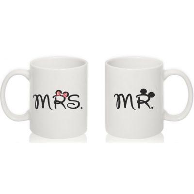 Парные чашки 'Mr, Mrs, Mouse'