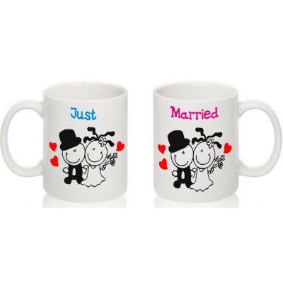 Парные чашки 'Только поженились'