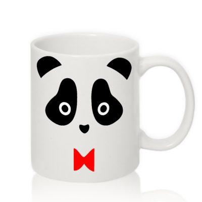 Авторская чашка 'Панда с бабочкой'