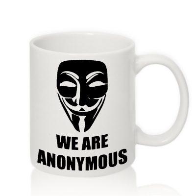 Авторская чашка 'We Are Anonymous'