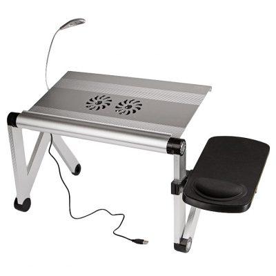 Столик для ноутбука Трансформер YOKO VIP silver