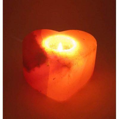 Соляная лампа из Гималайской соли СЕРДЦЕ