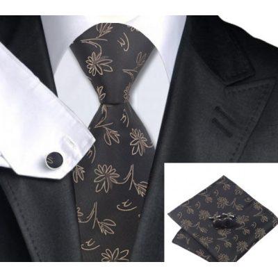 Мужской набор: галстук, запонки, платок ВИЛАНД