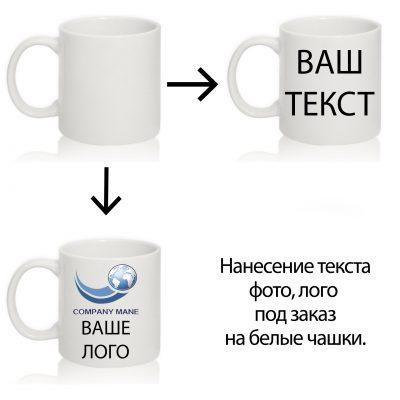 Чашка для нанесения изображения БЕЛАЯ
