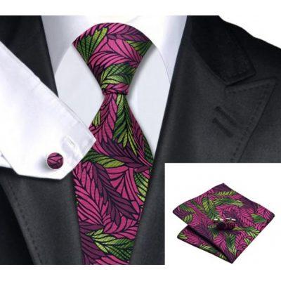 Мужской набор: галстук,запонки, платок БЕРТОЛЬД