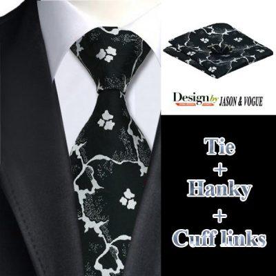 Мужской набор: галстук, запонки, платок ВОЛДЕМАР