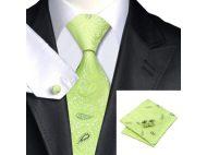 Мужской набор: галстук, запонки, платок