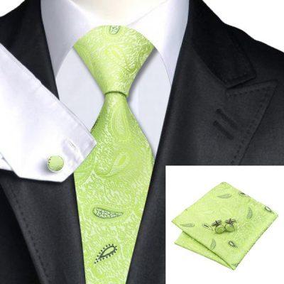 Мужской набор: галстук, запонки, платок ОЛДМАН