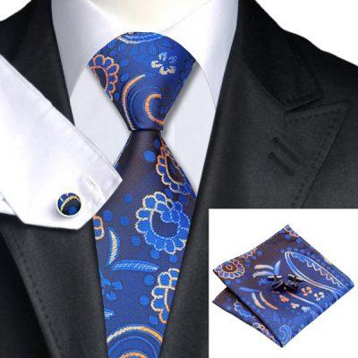 Мужской набор: галстук, запонки, платок ВИЛЬФРИД