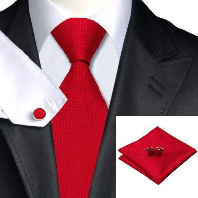 Мужской набор: галстук, запонки, платок ГЕРБЕРТ