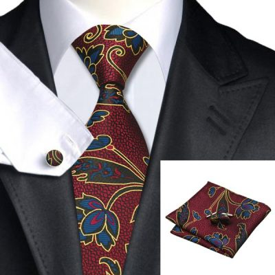 Мужской набор: галстук, запонки, платок ГОТТАРД