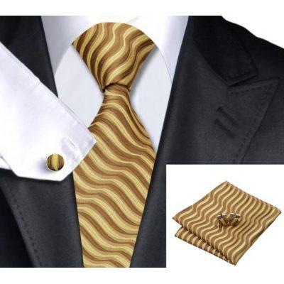Мужской набор: галстук, запонки, платок РАФАЭЛЬ