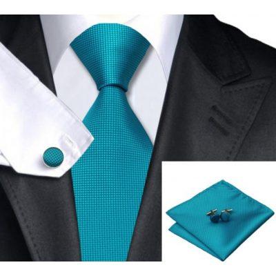 Мужской набор: галстук, запонки, платок СИГАРД