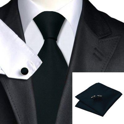 Мужской набор: галстук, запонки, платок ДЖЕРТ