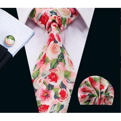 Мужской набор: галстук, запонки, платок БЕРХАРД