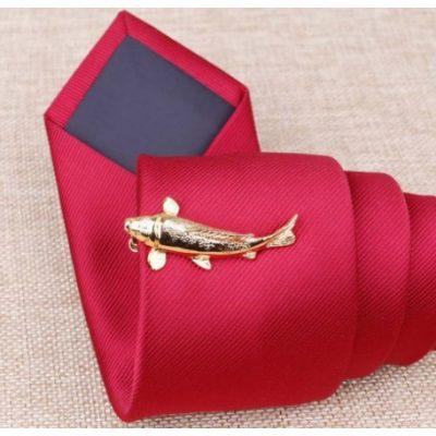 Зажим для галстука ЗОЛОТАЯ РЫБКА