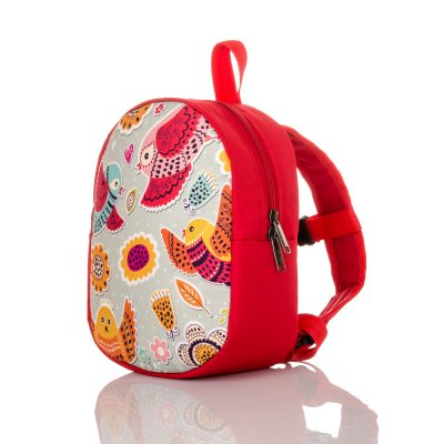 Рюкзак детский ПТИЧКИ красный