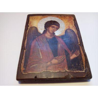Икона Архангела Михаила на состаренной доске